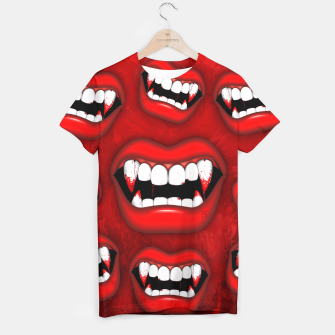 Vampire Red Bloody Mouth T-shirt thumbnail image
