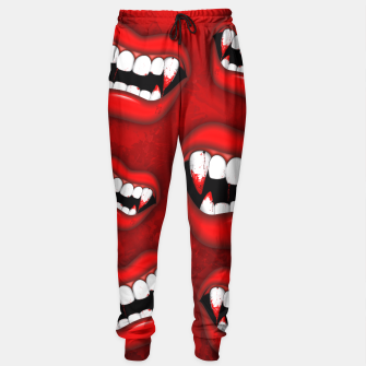 Thumbnail image of Vampire Red Bloody Mouth Sweatpants, Live Heroes
