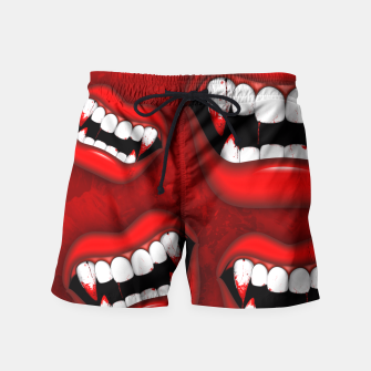 Thumbnail image of Vampire Red Bloody Mouth Swim Shorts, Live Heroes