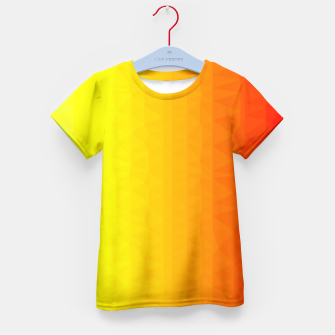 Thumbnail image of Polygon mesh art Kid's T-shirt, Live Heroes