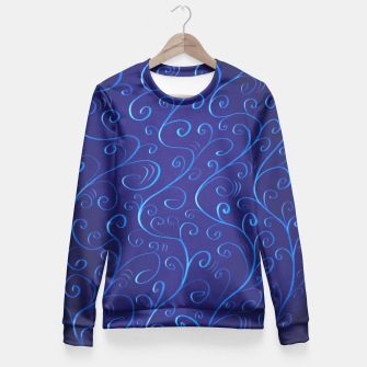 Mysterious Blue Glowing Swirls Fitted Waist Sweater thumbnail image