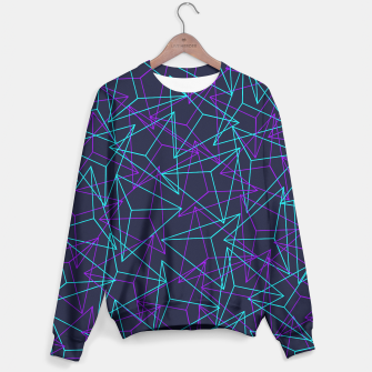 Miniature de image de DesignAbstract Geometric 3D Triangle Pattern in turquoise/ purple Sweater, Live Heroes