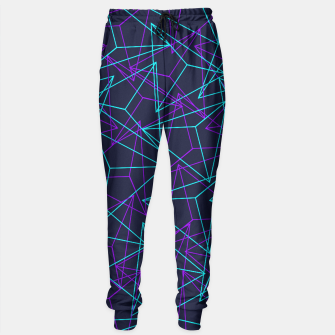 Miniature de image de DesignAbstract Geometric 3D Triangle Pattern in turquoise/ purple Sweatpants, Live Heroes