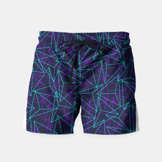 Miniature de image de DesignAbstract Geometric 3D Triangle Pattern in turquoise/ purple Swim Shorts, Live Heroes