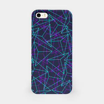 Miniature de image de DesignAbstract Geometric 3D Triangle Pattern in turquoise/ purple iPhone Case, Live Heroes