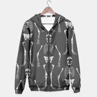 Thumbnail image of Black & White Skeletons Hoodie, Live Heroes