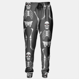 Thumbnail image of Black & White Skeletons Sweatpants, Live Heroes