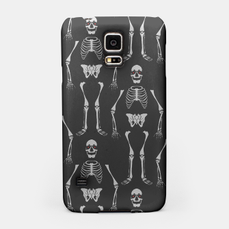 Thumbnail image of Black & White Skeletons Samsung Case, Live Heroes