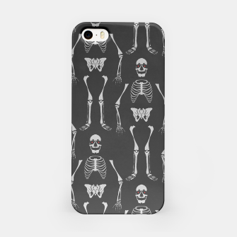 Thumbnail image of Black & White Skeletons iPhone Case, Live Heroes
