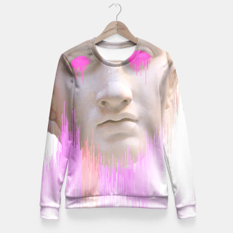 Thumbnail image of Glitched Greek Fitted Waist Sweater, Live Heroes
