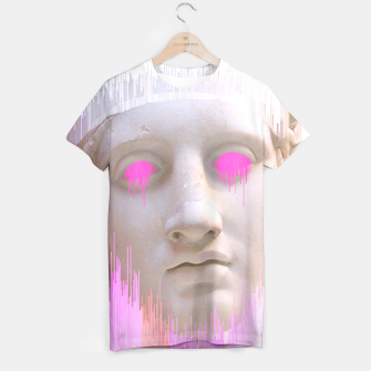 Thumbnail image of Glitched Greek T-shirt, Live Heroes