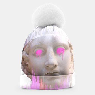 Thumbnail image of Glitched Greek Beanie, Live Heroes