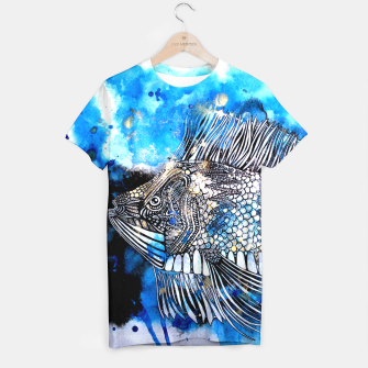 Thumbnail image of Beautiful but angry fish T-shirt, Live Heroes