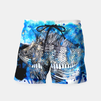 Thumbnail image of Beautiful but angry fish Swim Shorts, Live Heroes