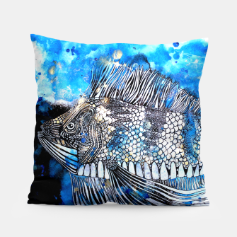 Thumbnail image of Beautiful but angry fish Pillow, Live Heroes
