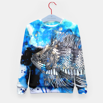 Thumbnail image of Beautiful but angry fish Kid's Sweater, Live Heroes