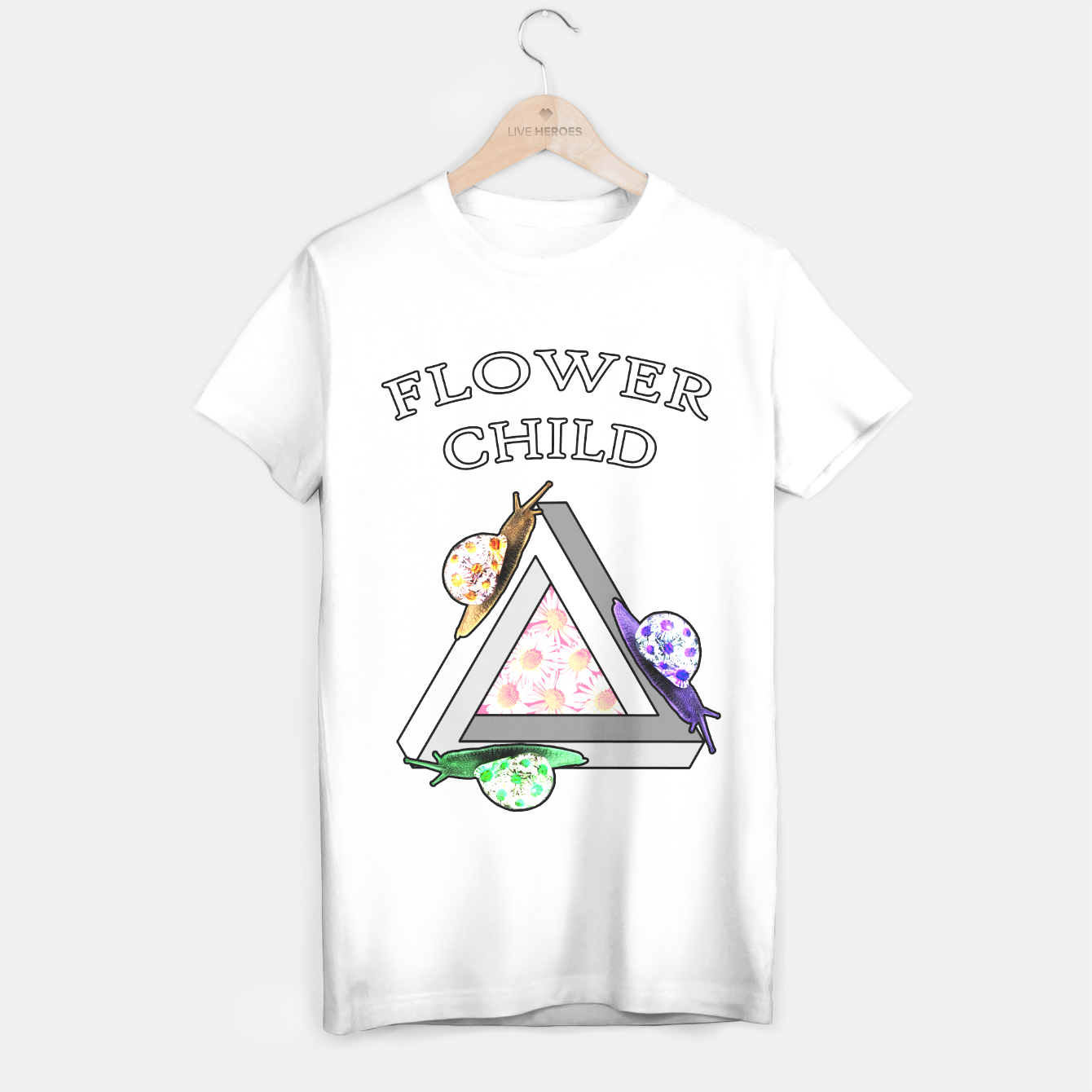 Image de Flower Child (white) - Live Heroes