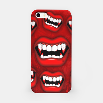 Thumbnail image of Vampire Red Bloody Mouth iPhone Case, Live Heroes