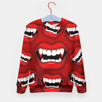 Vampire Red Bloody Mouth Kid's Sweater thumbnail image