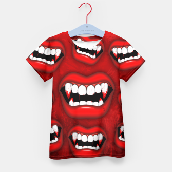 Vampire Red Bloody Mouth Kid's T-shirt thumbnail image