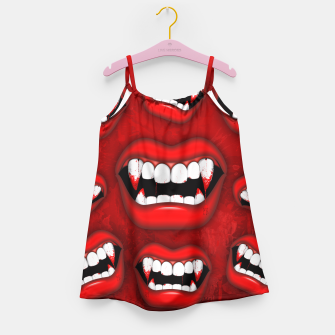 Vampire Red Bloody Mouth Girl's Dress thumbnail image