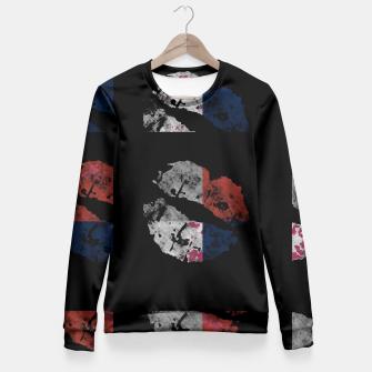 Thumbnail image of Patriotic Kiss Fitted Waist Sweater, Live Heroes