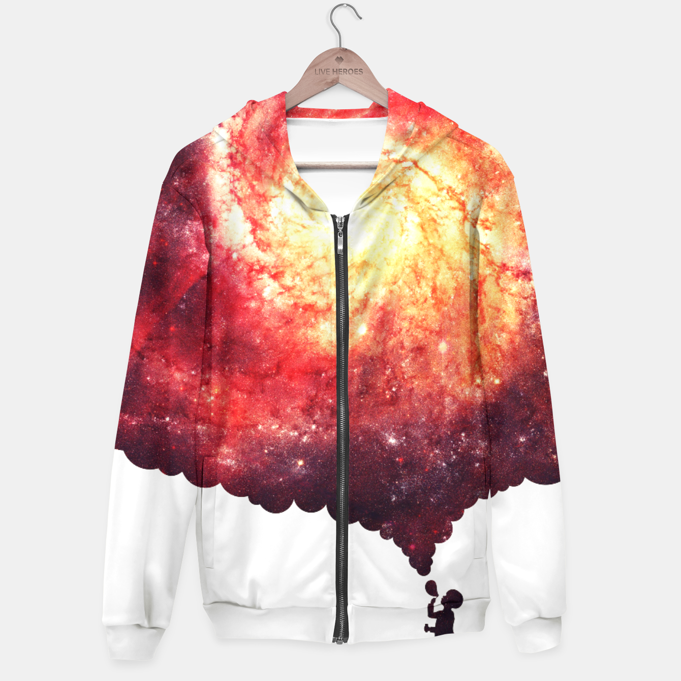 Image of The Universe in a Soap Bubble (Spiritual Space Artwork) Hoodie - Live Heroes