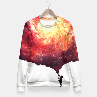 Miniatur The Universe in a Soap Bubble (Spiritual Space Artwork) Fitted Waist Sweater, Live Heroes
