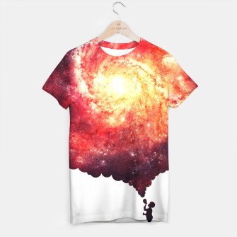 Miniatur The Universe in a Soap Bubble (Spiritual Space Artwork) T-shirt, Live Heroes