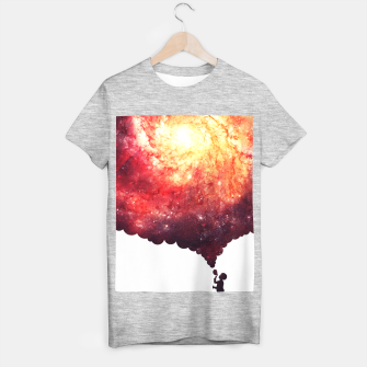 Miniatur The Universe in a Soap Bubble (Spiritual Space Artwork) T-shirt regular, Live Heroes