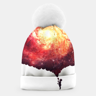 Miniatur The Universe in a Soap Bubble (Spiritual Space Artwork) Beanie, Live Heroes