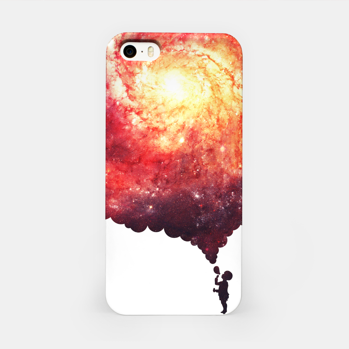 Image of The Universe in a Soap Bubble (Spiritual Space Artwork) iPhone Case - Live Heroes