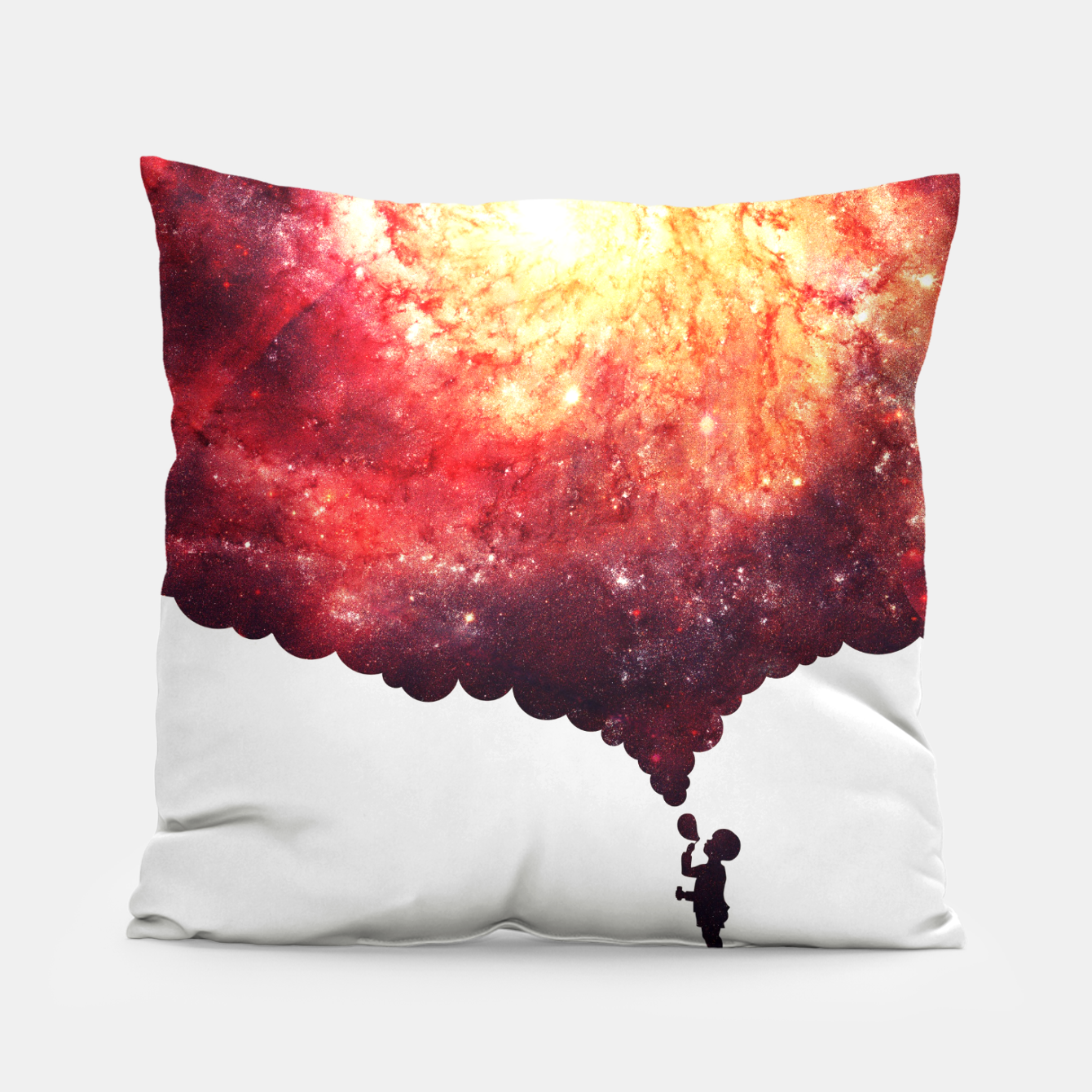 Image of The Universe in a Soap Bubble (Spiritual Space Artwork) Pillow - Live Heroes