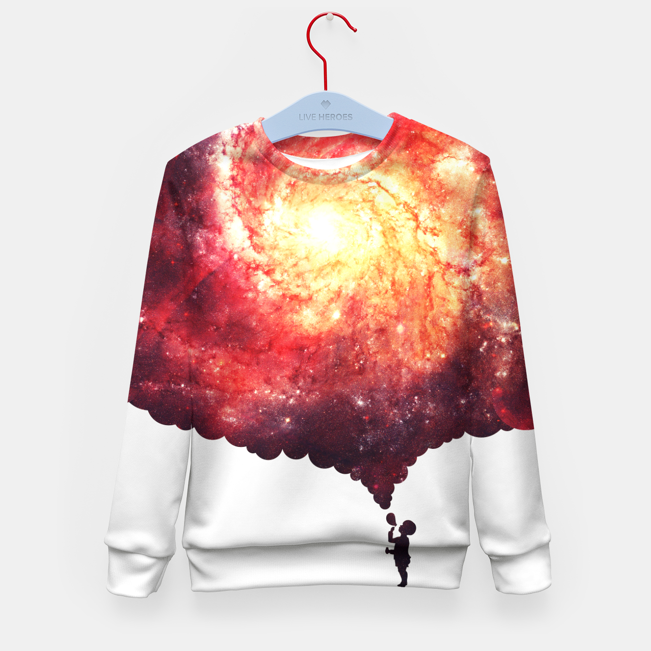 Image of The Universe in a Soap Bubble (Spiritual Space Artwork) Kid's Sweater - Live Heroes