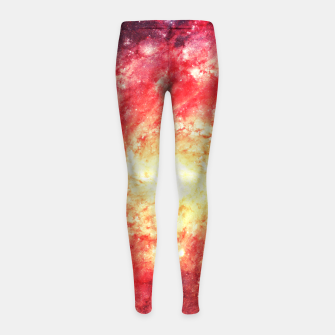 Miniatur The Universe in a Soap Bubble (Spiritual Space Artwork) Girl's Leggings, Live Heroes
