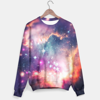 Miniature de image de The universe under the microscope (space tilt shift art) Sweater, Live Heroes