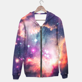 Miniatur The universe under the microscope (space tilt shift art) Hoodie, Live Heroes