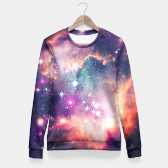 Miniature de image de The universe under the microscope (space tilt shift art) Fitted Waist Sweater, Live Heroes