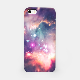 Miniature de image de The universe under the microscope (space tilt shift art) iPhone Case, Live Heroes