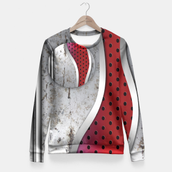 Thumbnail image of 3D metal texture art Fitted Waist Sweater, Live Heroes