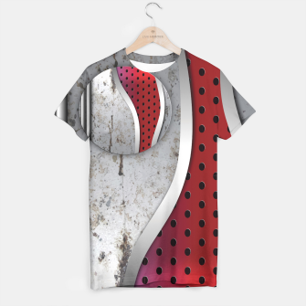Thumbnail image of 3D metal texture art T-shirt, Live Heroes