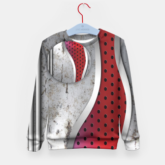 Thumbnail image of 3D metal texture art Kid's Sweater, Live Heroes