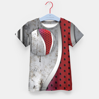 Thumbnail image of 3D metal texture art Kid's T-shirt, Live Heroes
