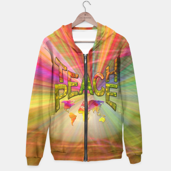 Thumbnail image of Teach Peace Hoodie, Live Heroes