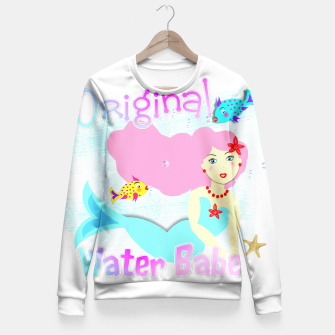 Thumbnail image of Girly Cute Mermaid Water Babe  Fitted Waist Sweater, Live Heroes