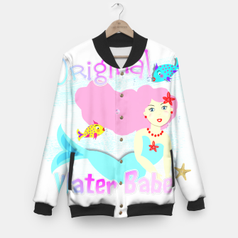 Thumbnail image of Girly Cute Mermaid Water Babe  Baseball Jacket, Live Heroes