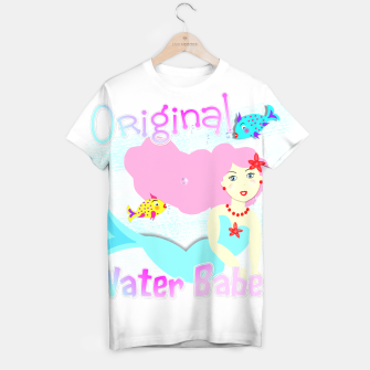 Thumbnail image of Girly Cute Mermaid Water Babe  T-shirt, Live Heroes