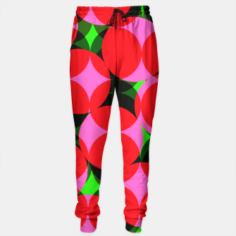 Thumbnail image of Dotty Spotty Geometric Pink Red Green Mix Sweatpants, Live Heroes