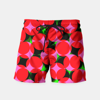Thumbnail image of Dotty Spotty Geometric Pink Red Green Mix Swim Shorts, Live Heroes