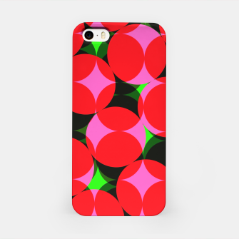 Thumbnail image of Dotty Spotty Geometric Pink Red Green Mix iPhone Case, Live Heroes